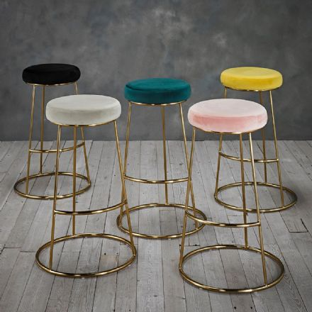 Velvet Bar Stool (Pack of Two)
